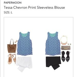 Papermoon Tessa Chevron Top